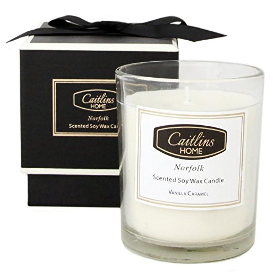 いたずら別に感情(Small, Vanilla Caramel) - Vanilla Caramel Candle Soy Wax Aromatherapy Candle Home Fragrance Gift Caitlins Home