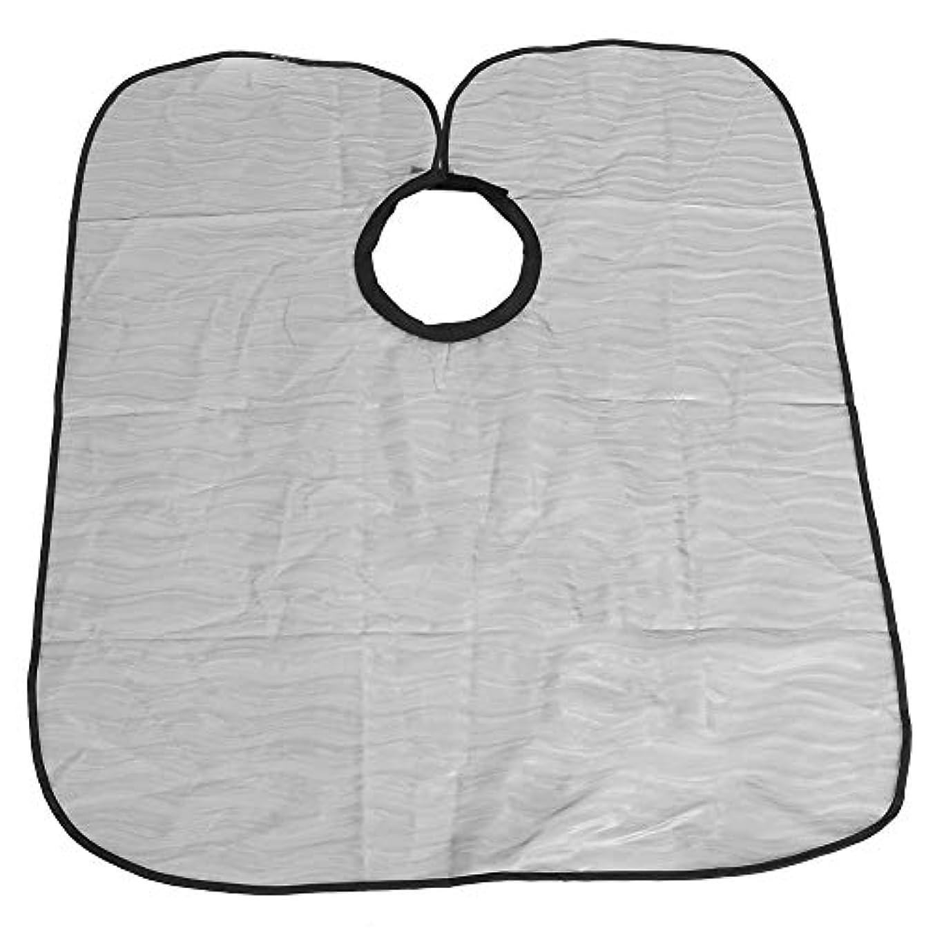 透けて見える把握形容詞プロのサロンケープ、防水サロンヘアカットケープ理髪布ヘアスタイリストガウン理髪ケープ(S)
