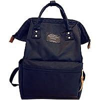 【Grandir】 がまぐち リュック レディース 大人可愛い マザーズバッグ 大容量 通勤 通学 選べるカラー11色 (ブラック)