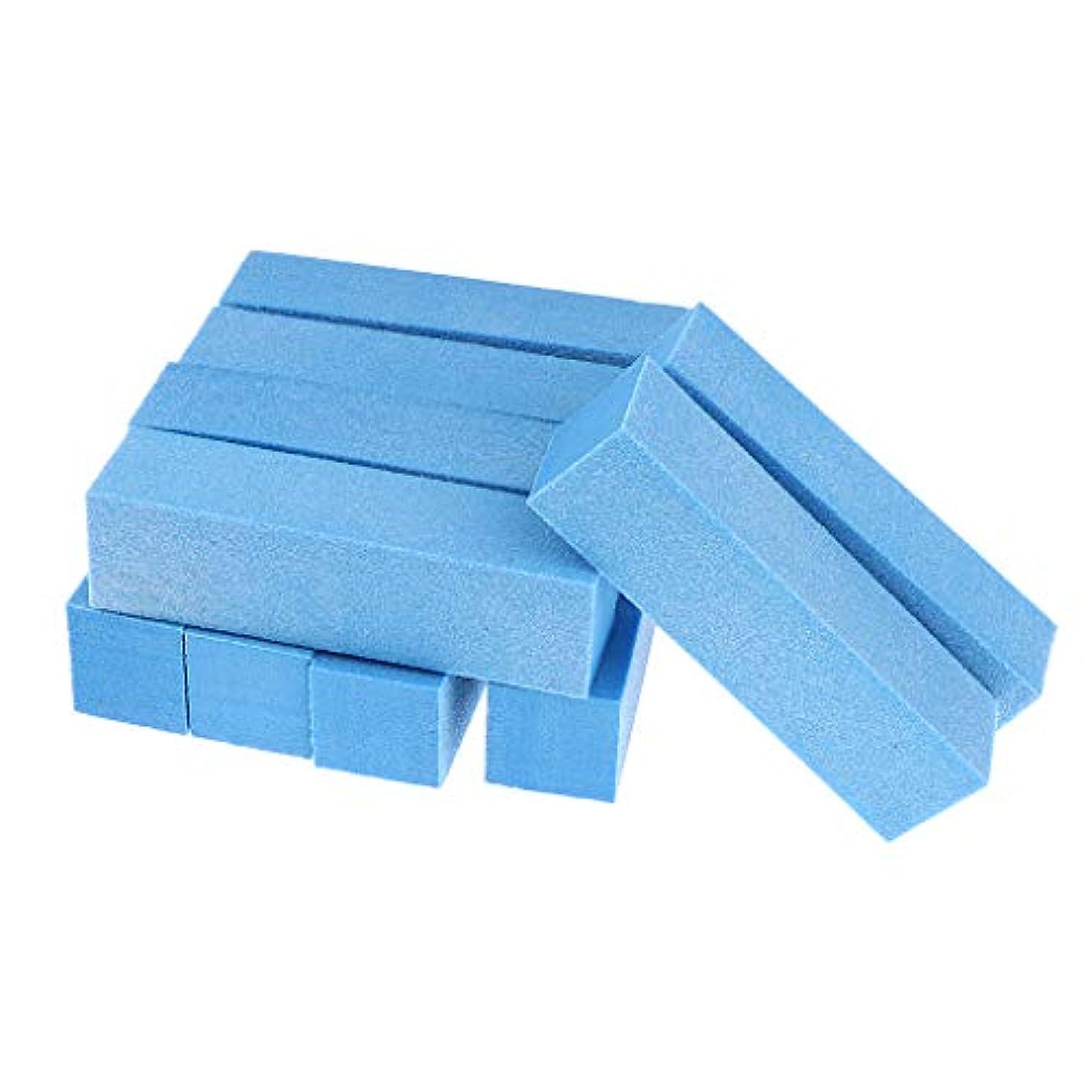 トーク先思いやりのあるToygogo 両面ネイルバッファーネイルシャイナースポンジネイルファイルサンディングブロック-ソフト&シルキー、10個-作成された滑らかで美しいネイル - 青