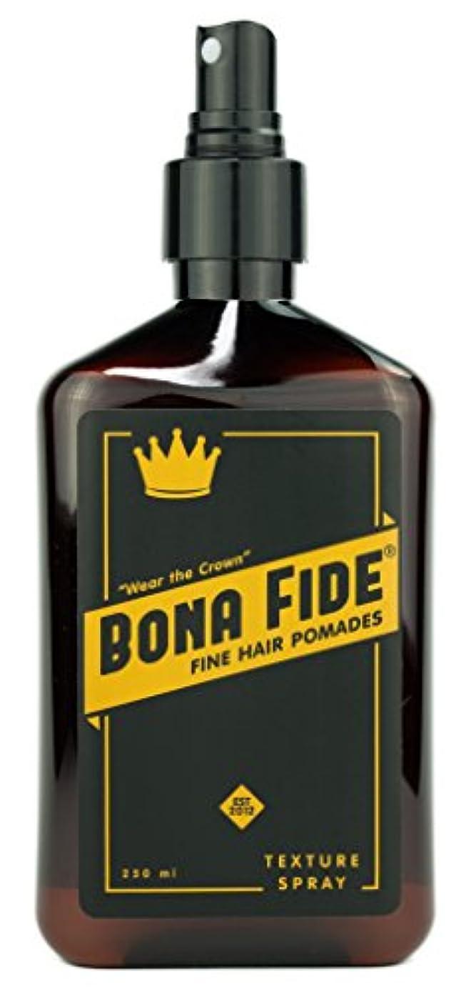 写真を描く飲み込む活発ボナファイドポマード(BONA FIDE POMADE) テクスチャースプレー (250mL) メンズ 整髪料 ヘアスタイリング剤 水性 ヘアグリース スタイリングスプレー 液体状ポマード リッキドタイプ ツヤあり
