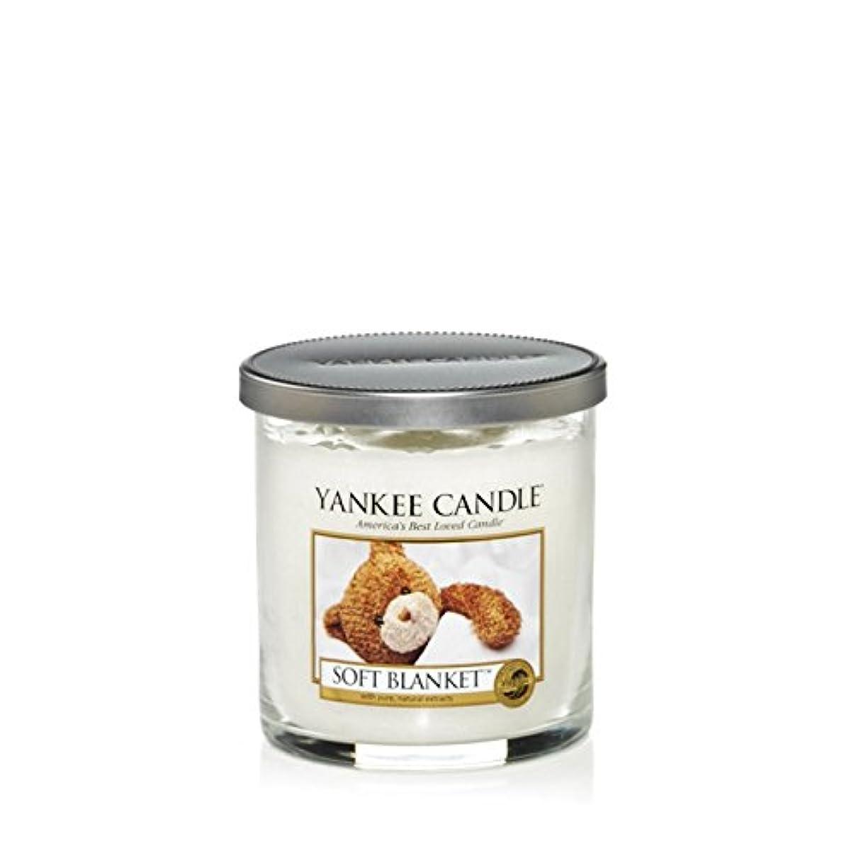 薄いです住人政治家のYankee Candles Small Pillar Candle - Soft Blanket (Pack of 2) - ヤンキーキャンドルの小さな柱キャンドル - ソフト毛布 (x2) [並行輸入品]