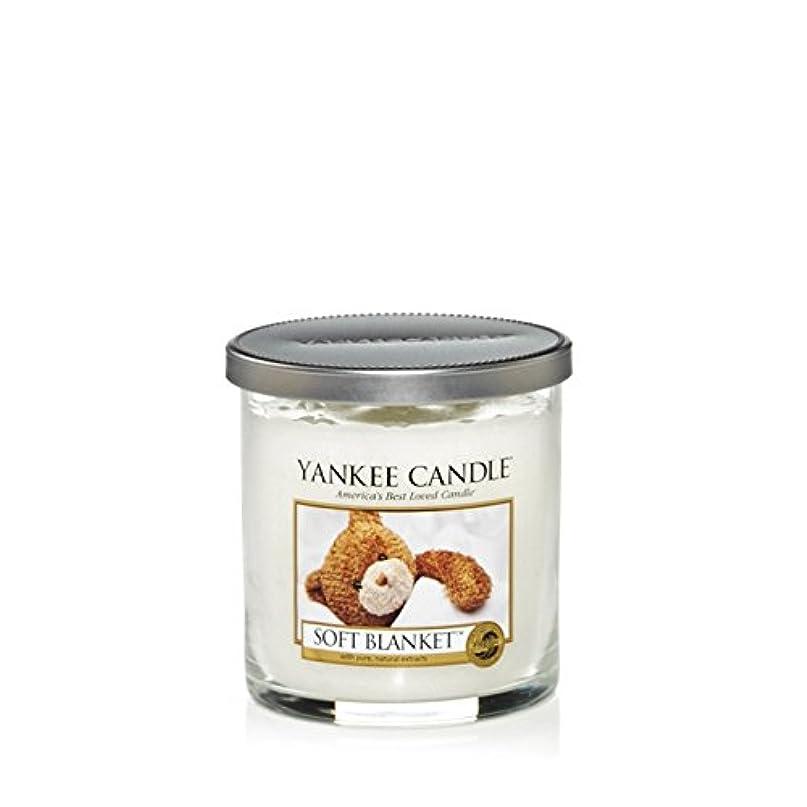 観点ジャンプ放棄Yankee Candles Small Pillar Candle - Soft Blanket (Pack of 2) - ヤンキーキャンドルの小さな柱キャンドル - ソフト毛布 (x2) [並行輸入品]