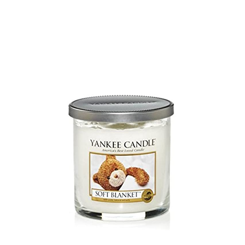 結婚式省略する潮Yankee Candles Small Pillar Candle - Soft Blanket (Pack of 6) - ヤンキーキャンドルの小さな柱キャンドル - ソフト毛布 (x6) [並行輸入品]