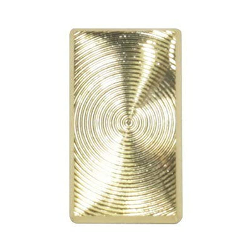 地殻インテリア程度SHAREYDVA ネイルパーツ レクタングルプレート ゴールド 8P