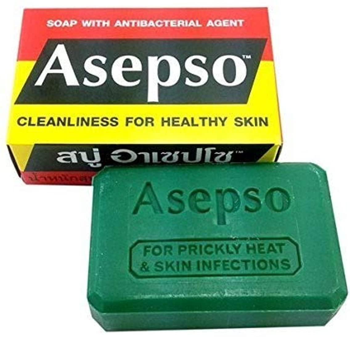 コンソール落とし穴硬さNi Yom Thai shop Asepso Soap with Antibacterial Agent 80 Grams