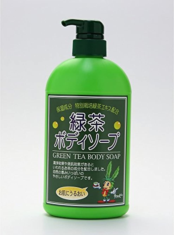 アイザック典型的なアジテーション緑茶ボディーソープ 550ml