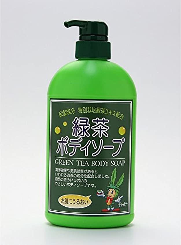けがをするサスペンド省緑茶ボディーソープ 550ml