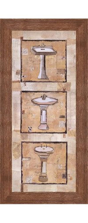 ヴィンテージ洗面台I by Kate And Liz Pope – 8 x 20インチ – アートプリントポスター LE_201338-F10570-8x20