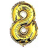 Liroyal ちょうど良い大きさ 数字バルーン ゴールド 誕生日 ウェディング パーティーに (8)