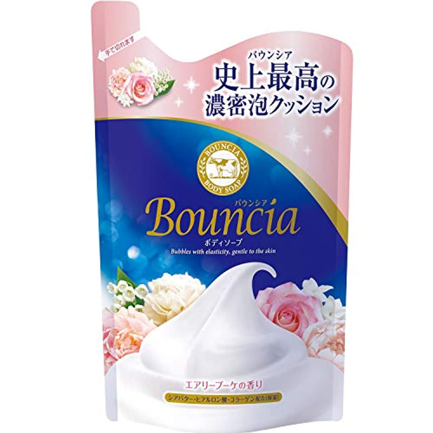 特異性頬骨実質的にバウンシア ボディソープ エアリーブーケの香り 詰替 400mL
