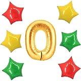 アドワン 数字 風船 バルーン 飾り付け 誕生日 ゴールド 大きい 数字1~9 文字 記念日 お祝い (O)