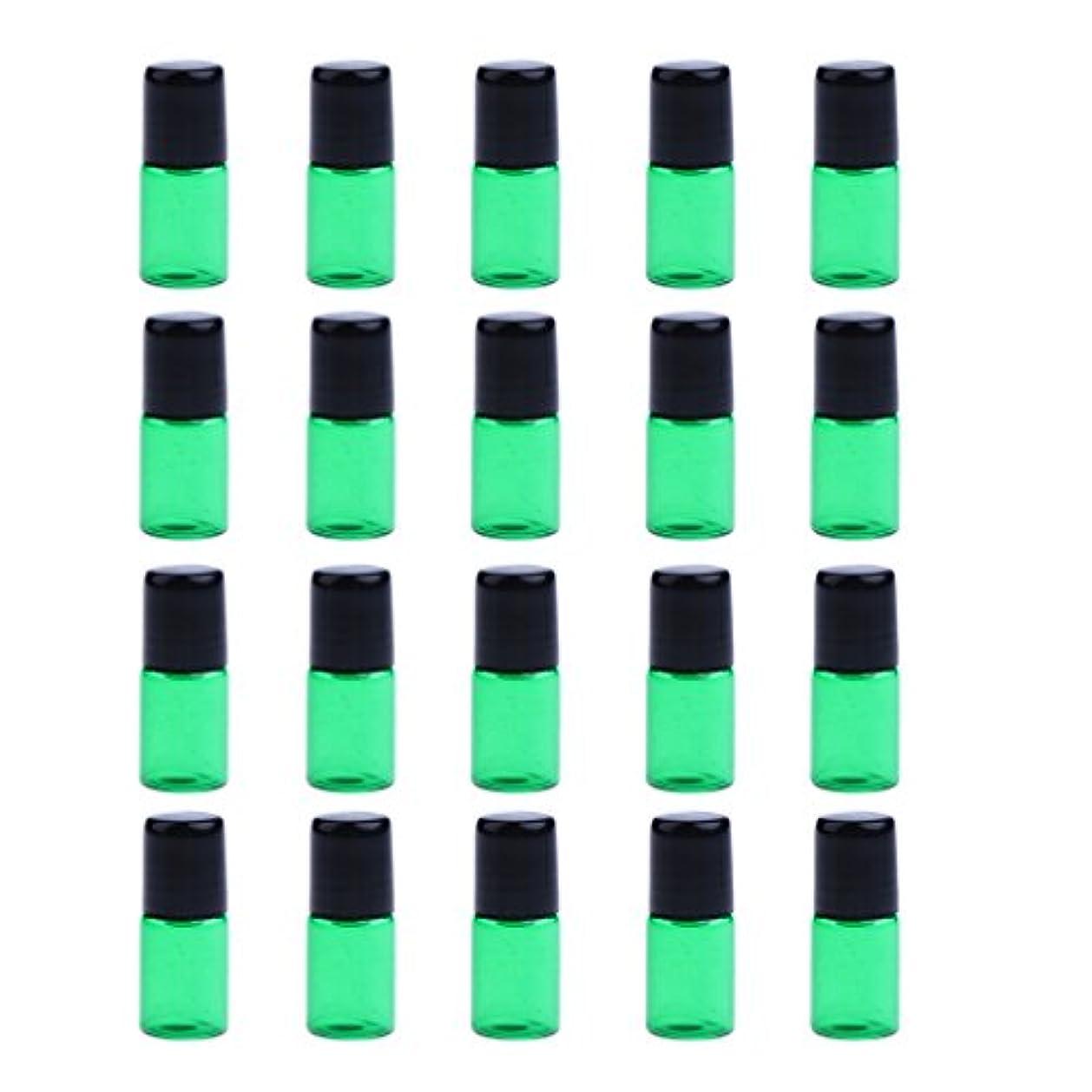 マーキング今まで機械的にP Prettyia ローラーボトル ガラス瓶 詰替えボトル 香水ボトル コスメ用 詰替え容器 全4色3サイズ選べる - 緑, 2ML
