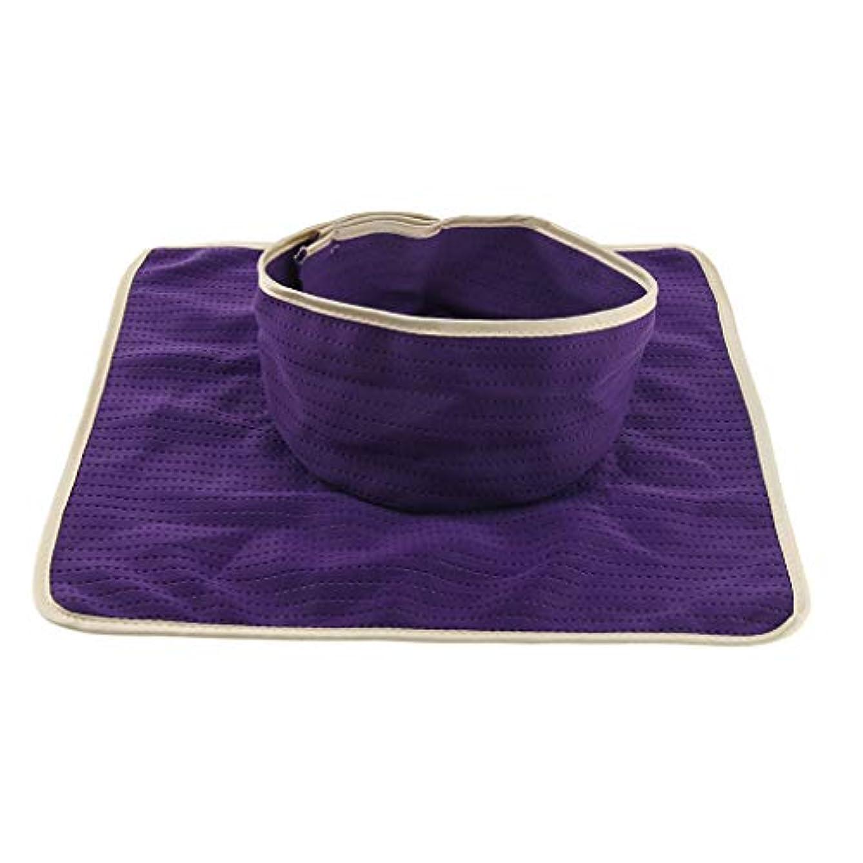 食事を調理する鉛筆ドリンクマッサージのベッド用 パッド マットシート 顔の穴付き 洗える 約35×35cm 全3色 - 紫