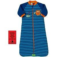 Snugtime Boys Little Monster Striped Padded Long Sleeve COSI Bag, Blue, 1