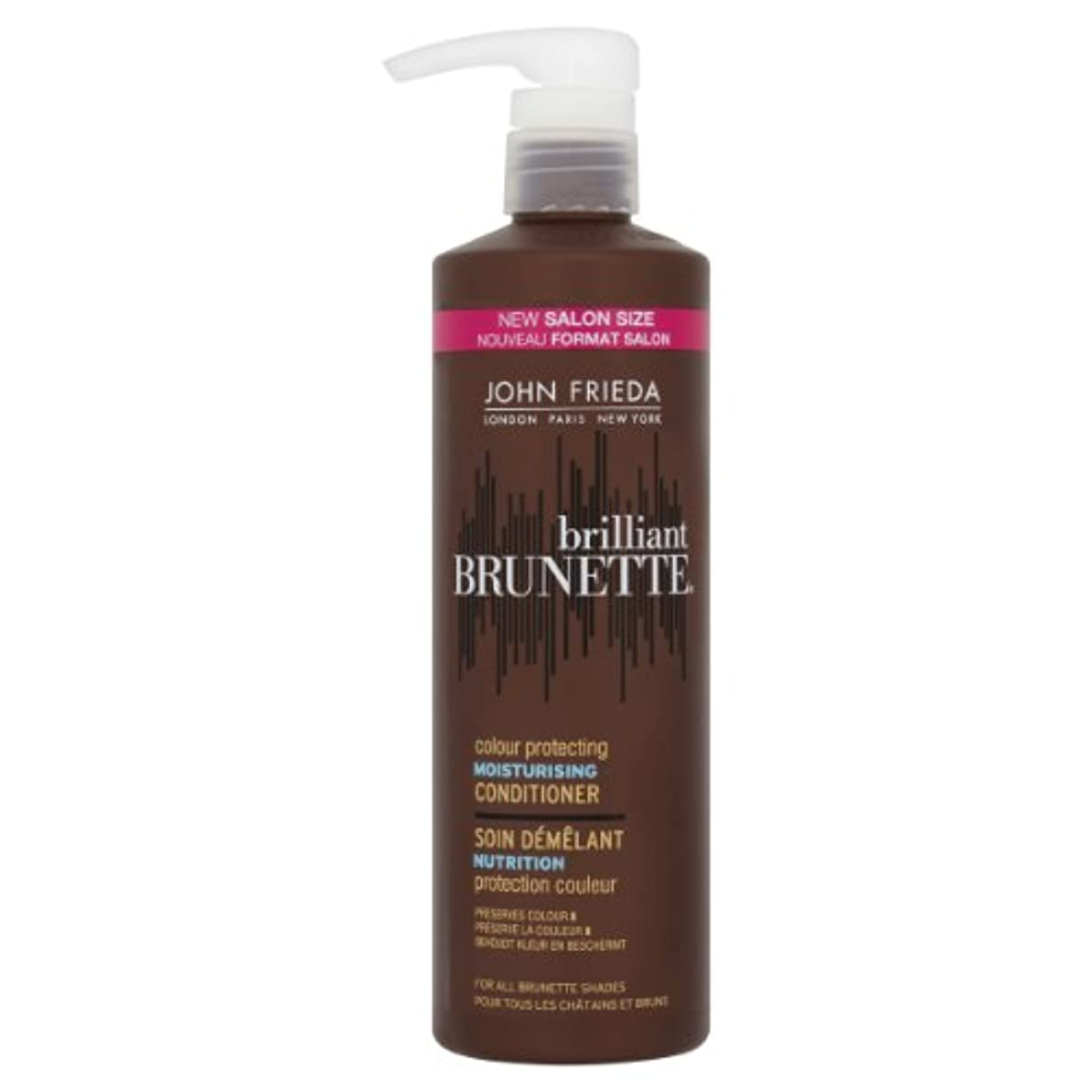臭いアドバンテージパーセントJohn Frieda Brilliant Brunette Colour Protecting Moisturising Conditioner 500ml