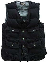 (ダブルアールエル ラルフローレン) RRL Ralph Lauren 《Wool Twill Vest: ウール ツイルベスト<Mill Navy>》 [並行輸入品]