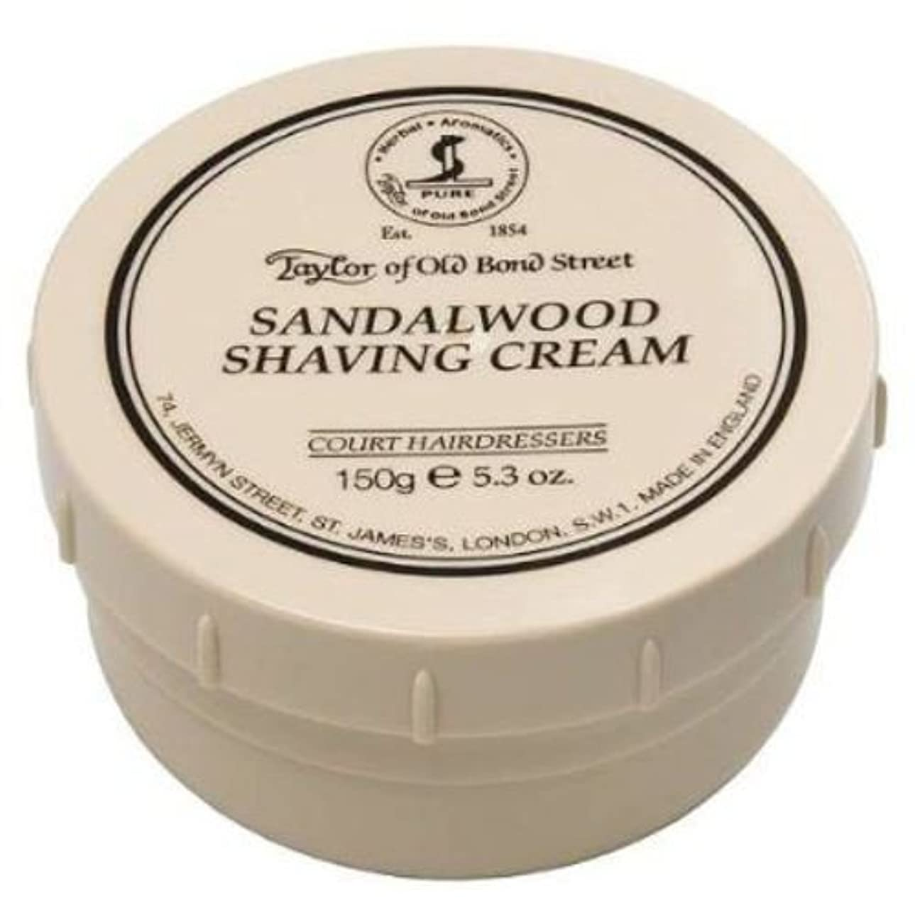 苦しめるスパイ結び目Taylor of Old Bond Street Sandalwood Shaving Cream , 5.3 oz, 2 Pack by Taylor of Old Bond Street