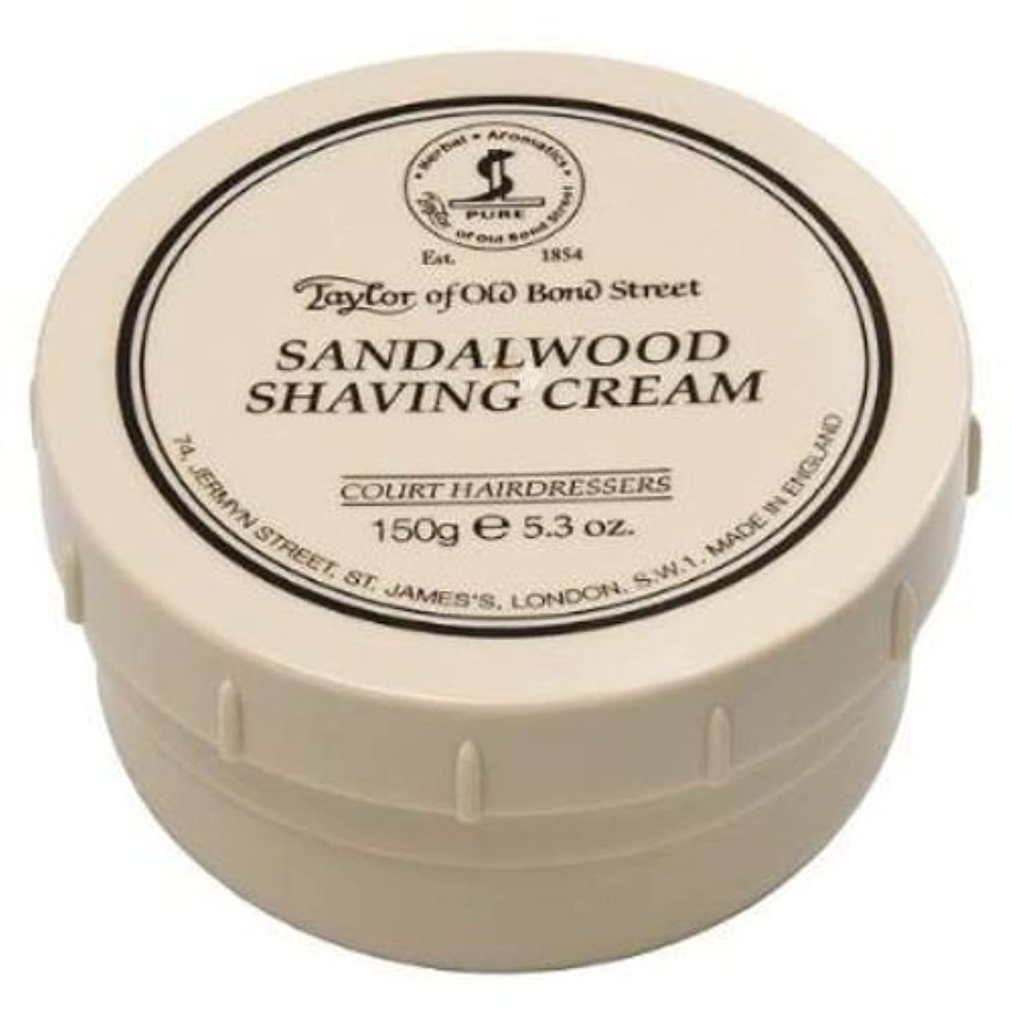 土曜日仲介者担保Taylor of Old Bond Street Sandalwood Shaving Cream , 5.3 oz, 2 Pack by Taylor of Old Bond Street