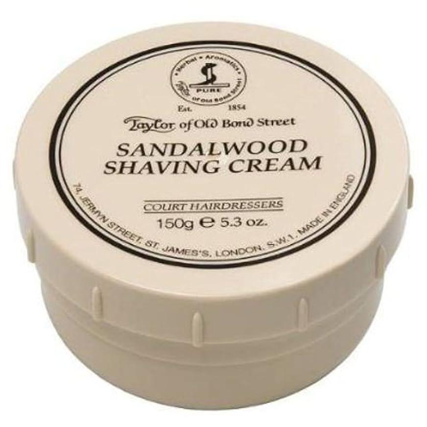 名誉ある芽ちらつきTaylor of Old Bond Street Sandalwood Shaving Cream , 5.3 oz, 2 Pack by Taylor of Old Bond Street