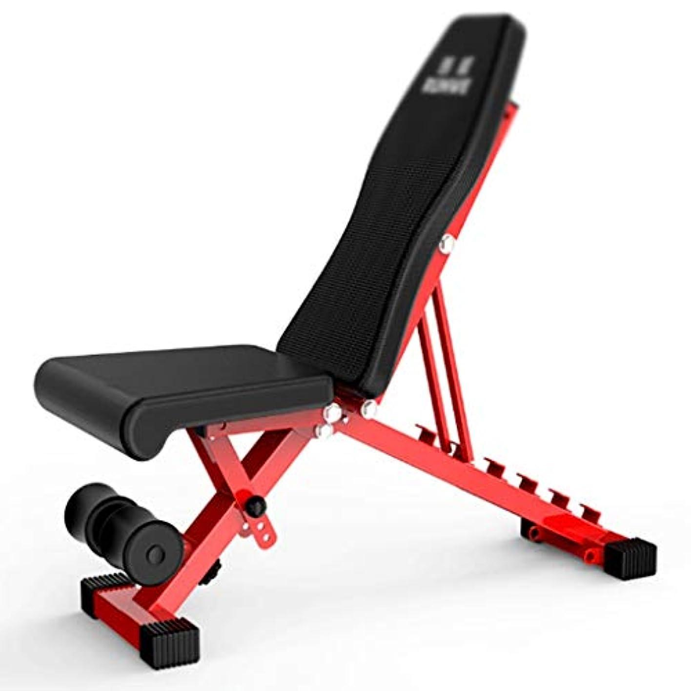 食べるミサイル三ウェイトベンチ ウェイトベンチプ シットアップベンチ高さ調節可能な折りたたみ重量ベンチMutifunctional腹部ベンチダンベルスツールジムの筋力トレーニング フィットネス機器 (Color : Black)