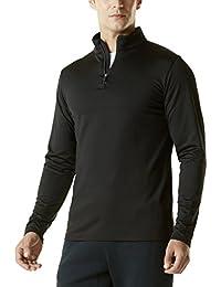 (テスラ)TESLA メンズ ウォームドライ 長袖 スポーツ シャツ 1/4ジップ [UVカット・防風・コールドプルーフ] プルオーバー