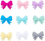 Mamimami Home Silicone Beads, Ribbon, Mixed Colors, 30 Pieces, Gift, Crafting, Bowknot, Small Items, Cute Jewe