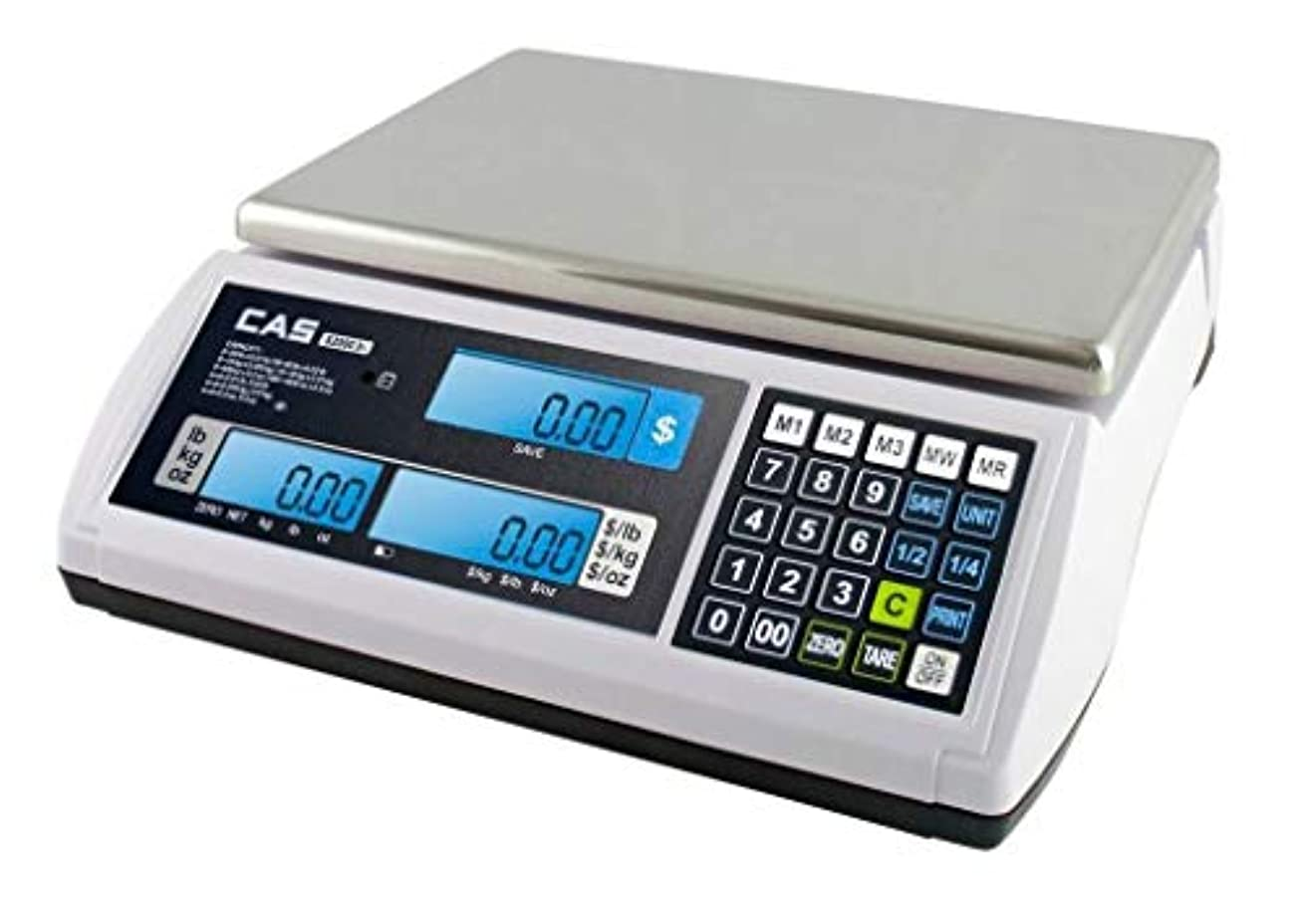 見込み疾患行列CAS S-2000 Jr Price Computing Scale with LCD Display 60 lbs by CAS