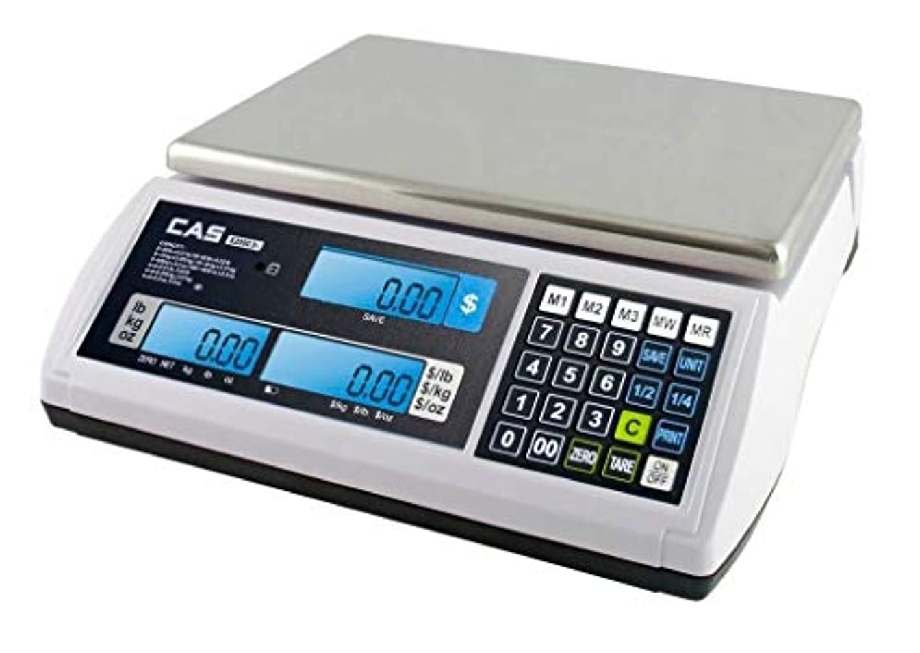 診断する住居努力するCAS S-2000 Jr Price Computing Scale with LCD Display 60 lbs by CAS