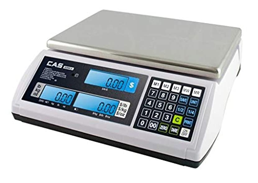 列車失効温度CAS S-2000 Jr Price Computing Scale with LCD Display 60 lbs by CAS