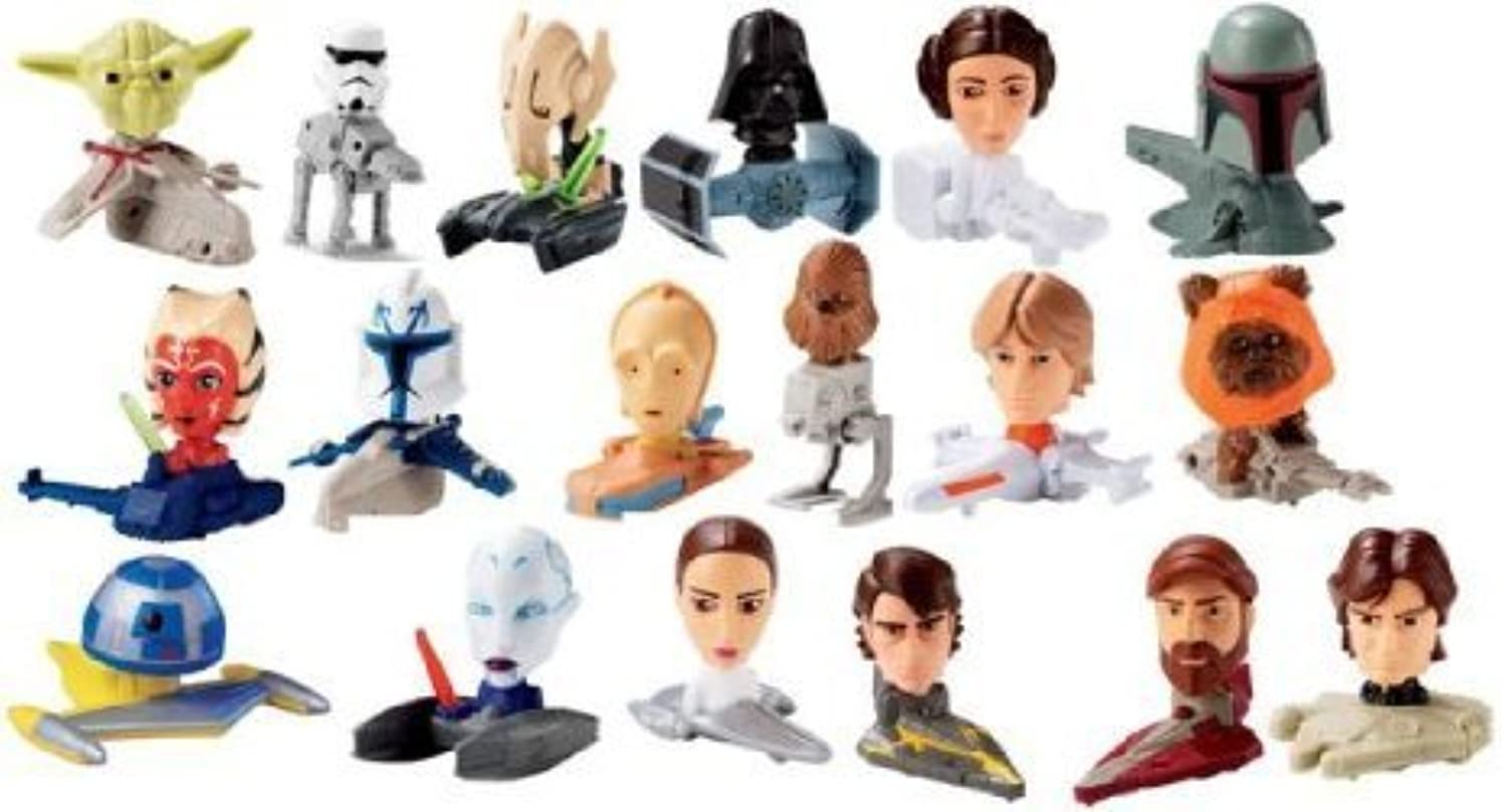 2008 Mcdonalds Star Wars (スターウォーズ) Clone Wars (Complete Set of 18 Collectable フィギュアs)(並行輸入)
