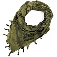 Secpro Shemagh Tactical Military Scarf Turban Arab Lightweight OD Cotton 42x42