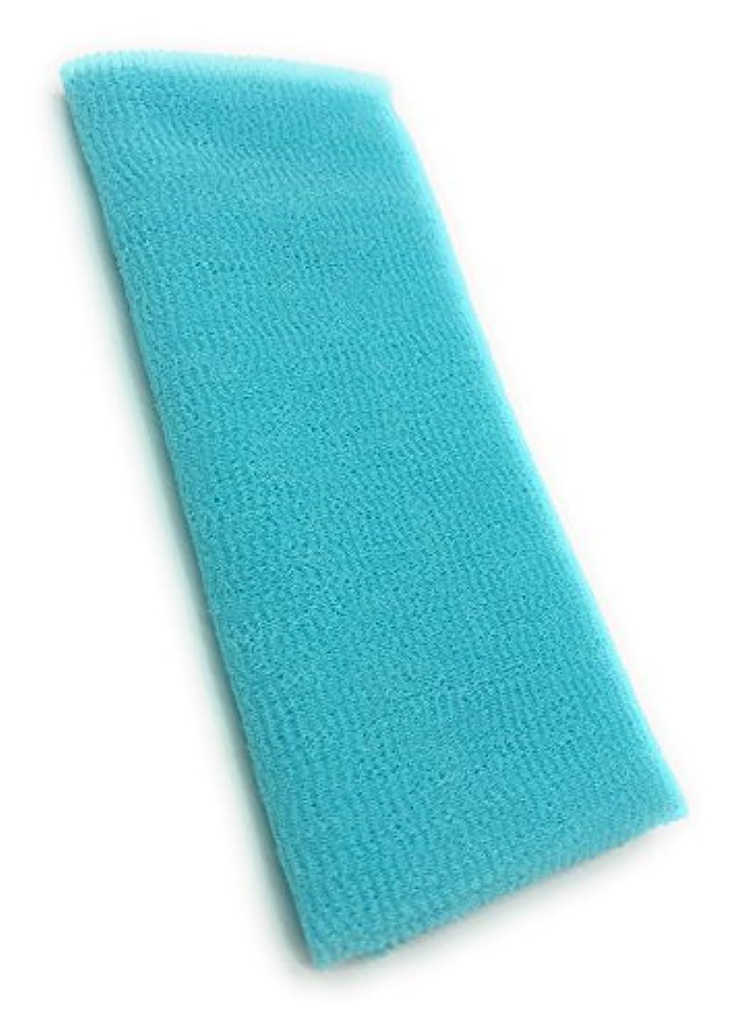 起点重さダブルMaltose あかすりタオル ボディタオル ロングボディブラシ やわらか 濃密泡 背中 お風呂用 メンズ 4色 (ブルー)