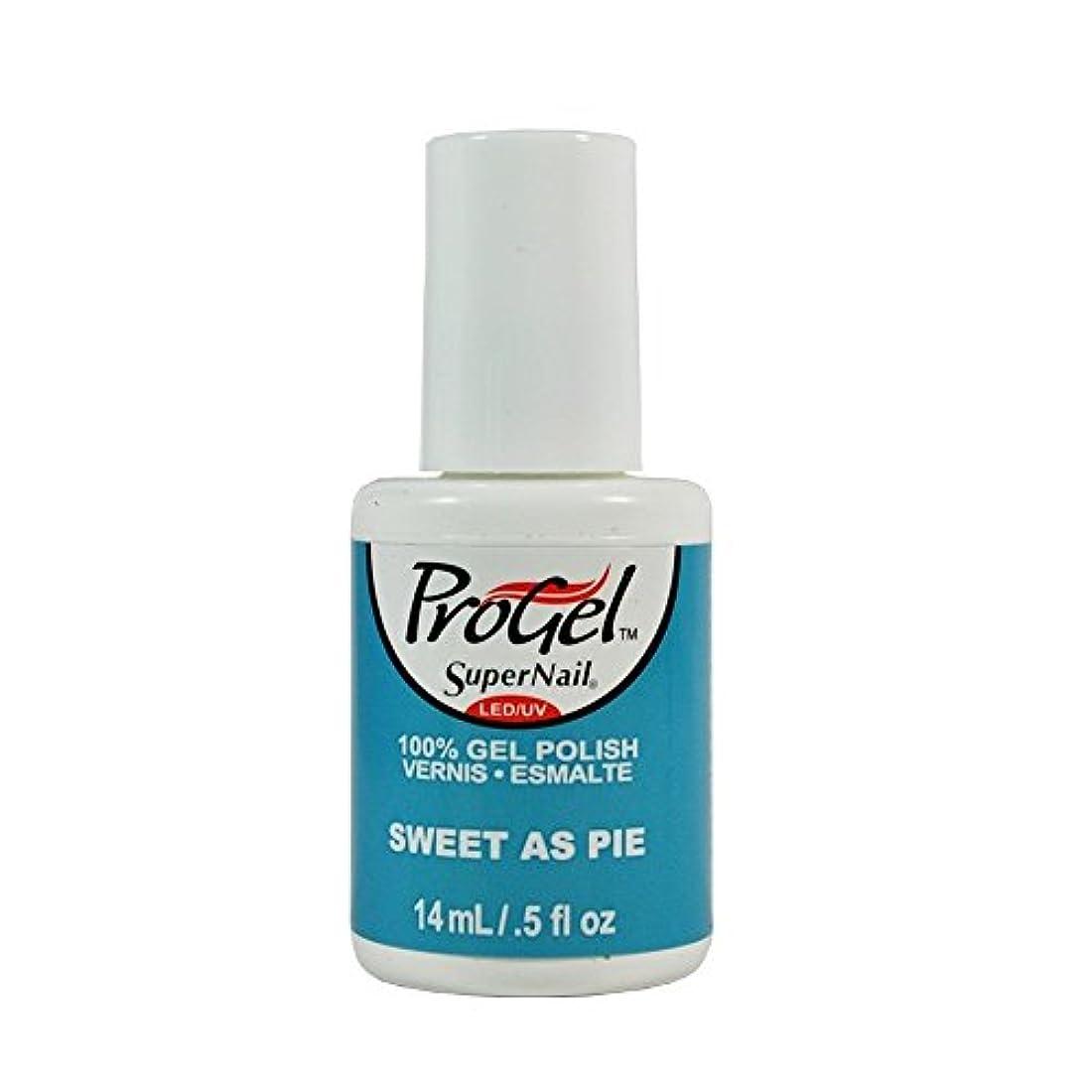 反映する論理服を着るSuperNail ProGel Gel Polish - Sweet as Pie - 0.5oz / 14ml