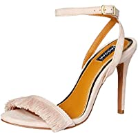 Jaggar Women's Fringe Suede Court Shoes, Pale Pink