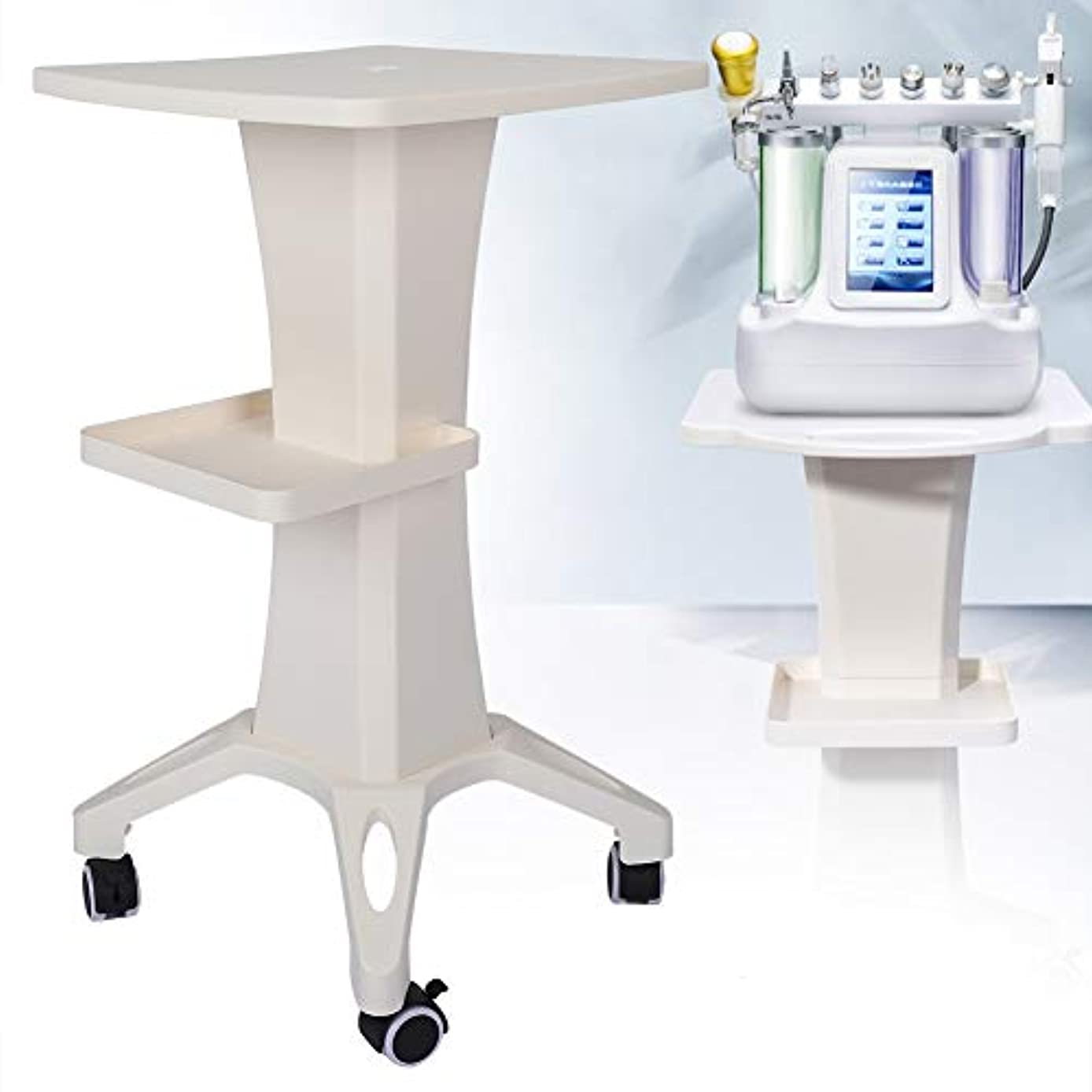 美容院のトロリー、デスクトップの美装置の圧延車輪の貯蔵の棚美容院の世帯のトロリーカート
