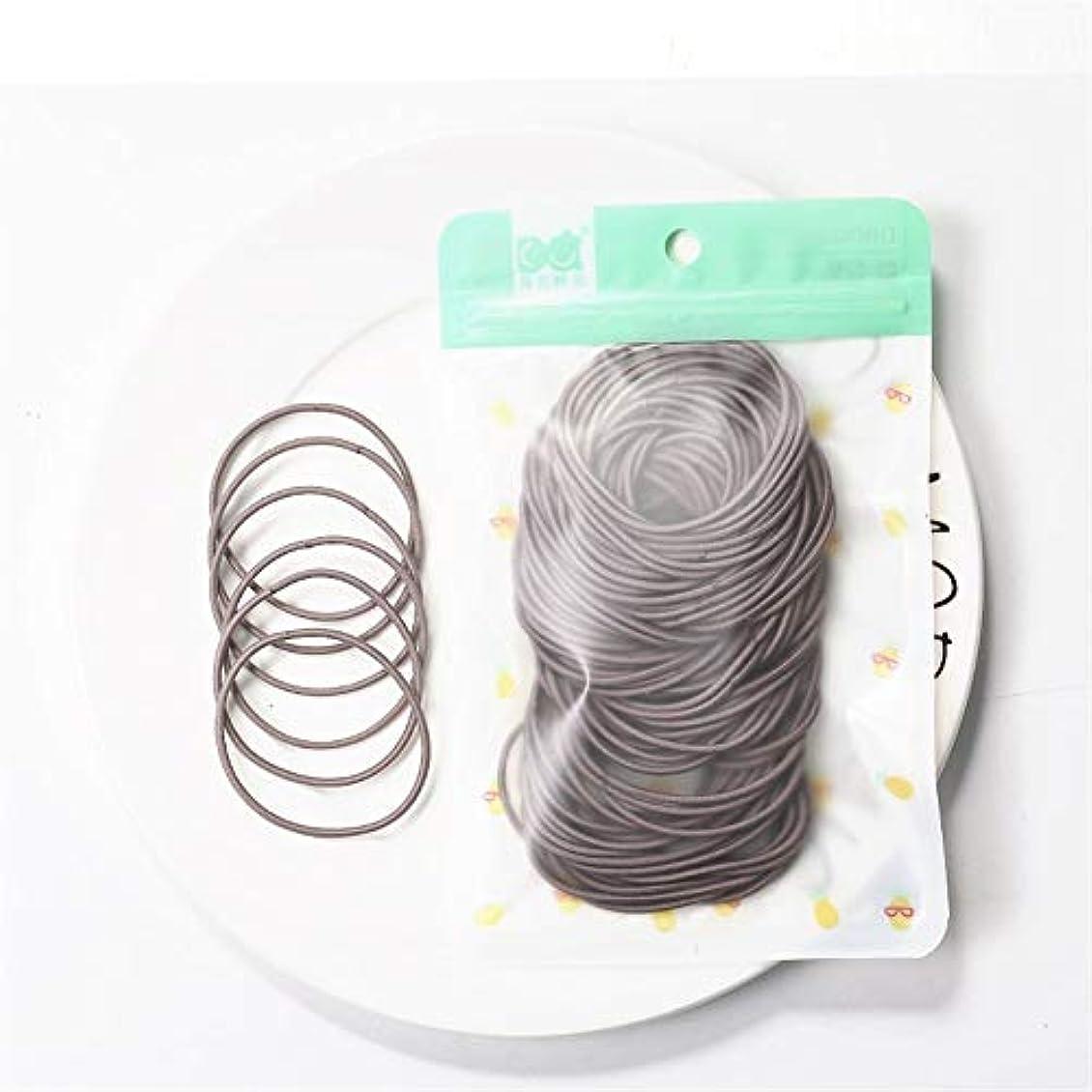西時計免疫するZHILI 髪のためのシュシュ弾性ヘアバンドヘッドバンドの女の子の装飾タイガムgummibänderヘアアクセサリーの女性の100枚 (Color : E)