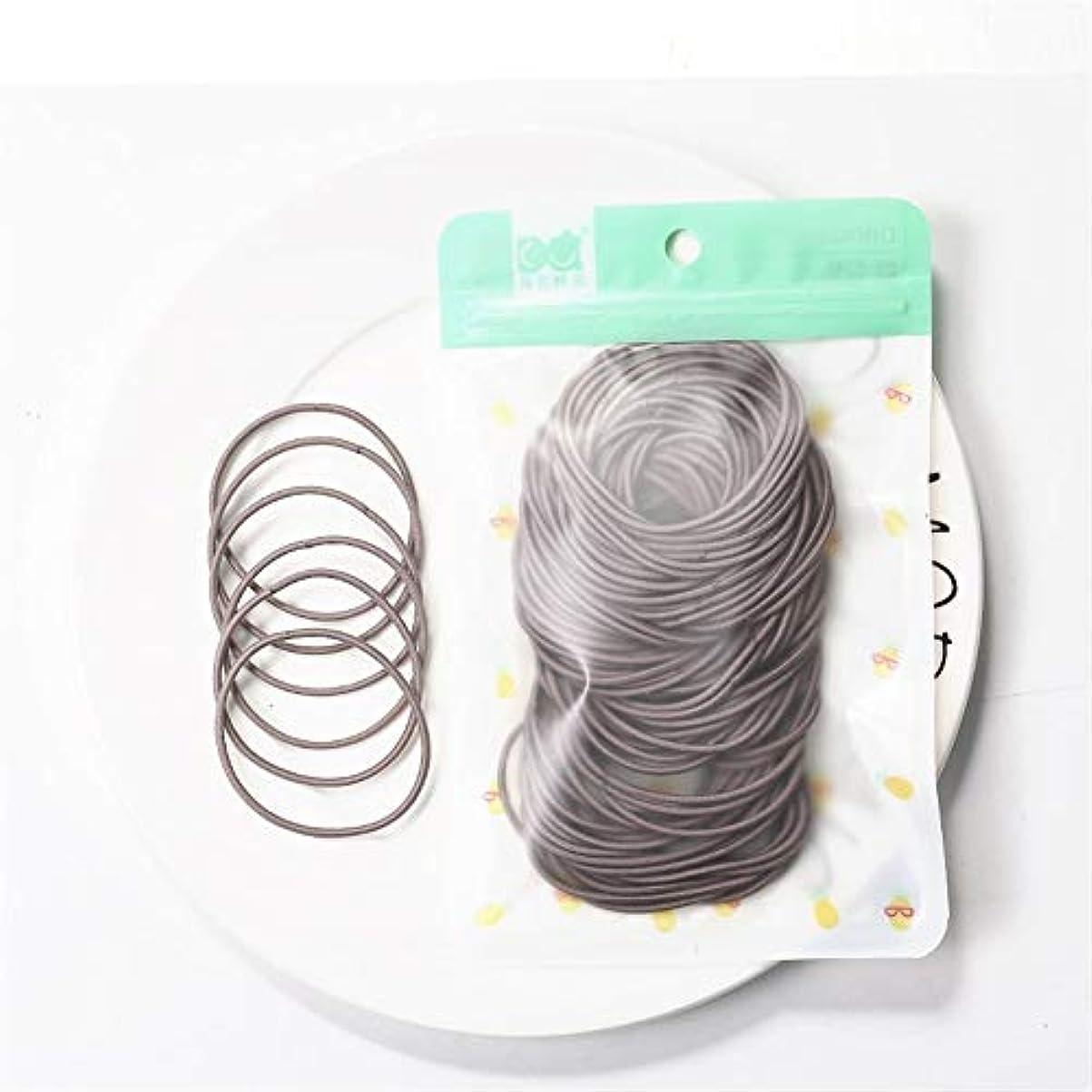 パン屋状案件ZHILI 髪のためのシュシュ弾性ヘアバンドヘッドバンドの女の子の装飾タイガムgummibänderヘアアクセサリーの女性の100枚 (Color : E)