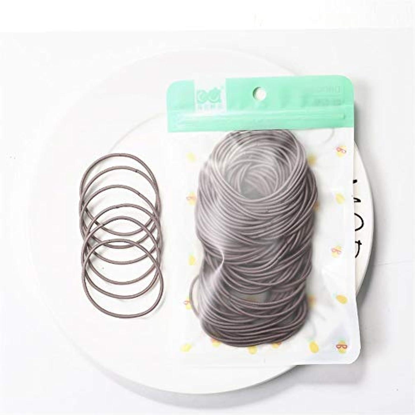 時期尚早スポット学んだZHILI 髪のためのシュシュ弾性ヘアバンドヘッドバンドの女の子の装飾タイガムgummibänderヘアアクセサリーの女性の100枚 (Color : E)