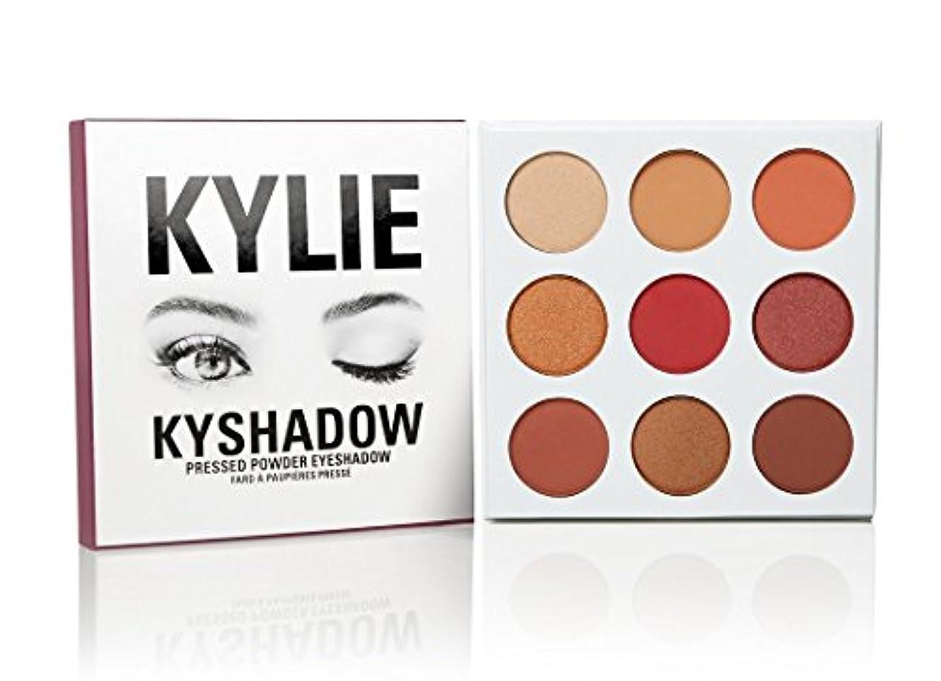 熱帯のホバー原告Kylie Cosmetics(カイリーコスメティック)The Burgundy Palette KYSHADOW 新作 9色アイシャドウパレット