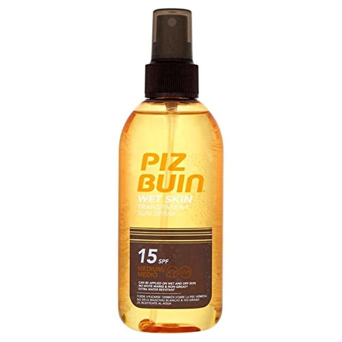 残る旅行者松ピッツブーインの湿った透明肌15の150ミリリットル x4 - Piz Buin Wet Transparent Skin SPF15 150ml (Pack of 4) [並行輸入品]