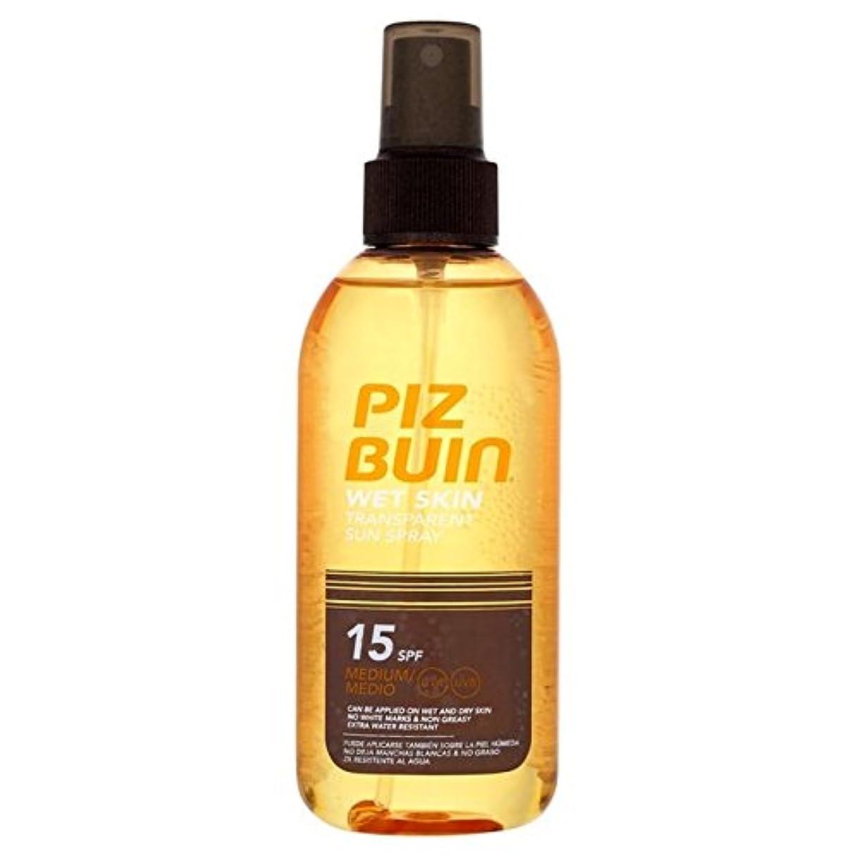 パスタ航空会社ボクシングピッツブーインの湿った透明肌15の150ミリリットル x4 - Piz Buin Wet Transparent Skin SPF15 150ml (Pack of 4) [並行輸入品]