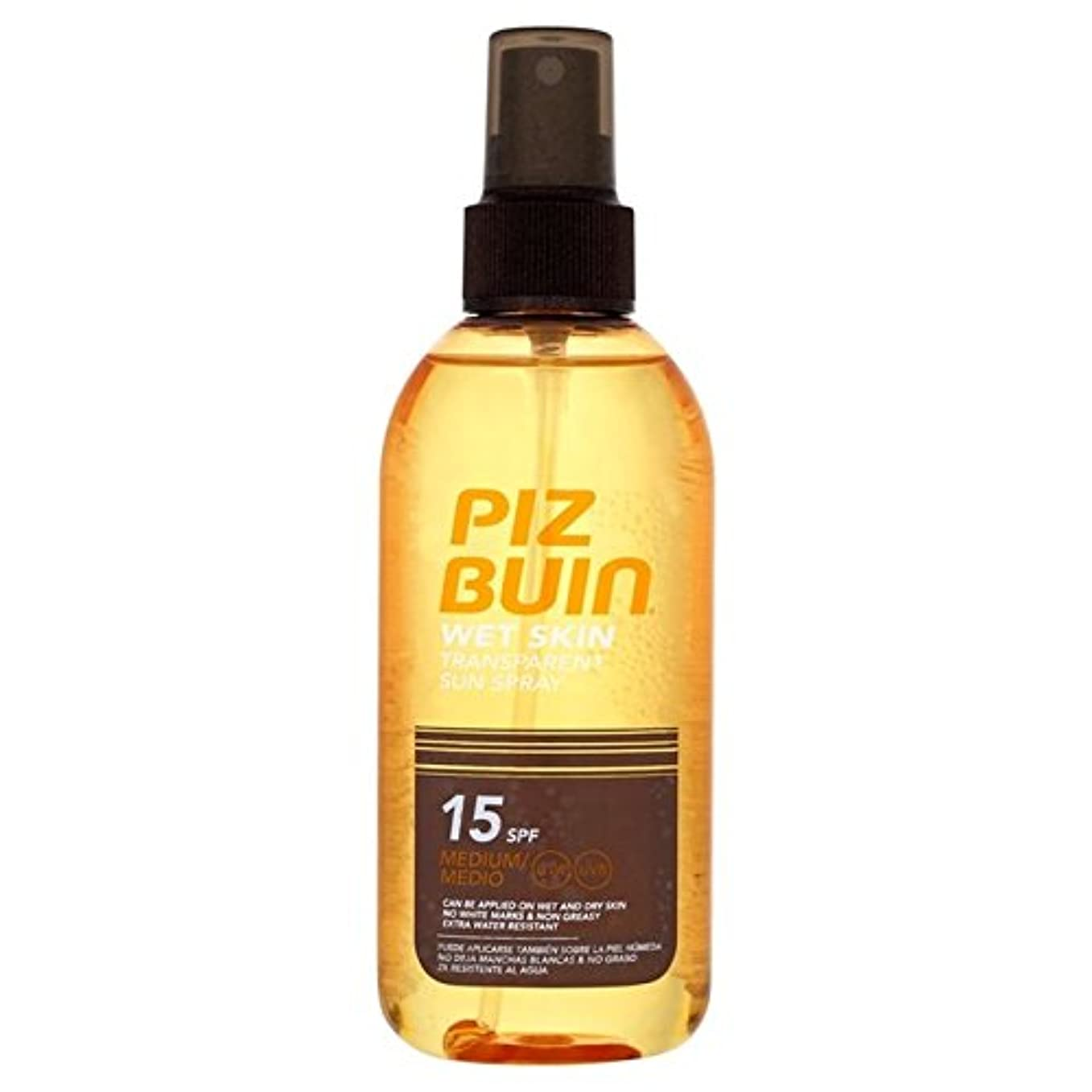 病気規模縮れたPiz Buin Wet Transparent Skin SPF15 150ml - ピッツブーインの湿った透明肌15の150ミリリットル [並行輸入品]