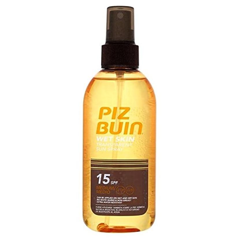 サバント真鍮もっとピッツブーインの湿った透明肌15の150ミリリットル x4 - Piz Buin Wet Transparent Skin SPF15 150ml (Pack of 4) [並行輸入品]