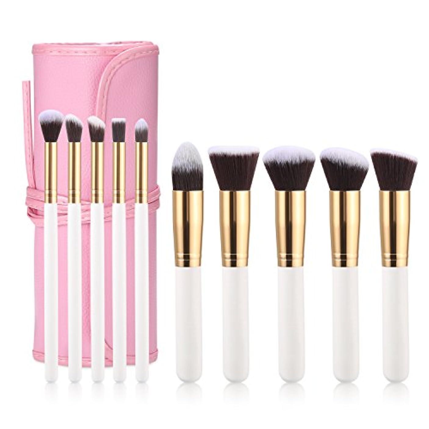 擬人化お別れ笑い化粧ブラシをセット,化粧ブラシ 化粧筆 ,パウダーブラシ、ファンデーションブラシ、チークブラシ、ハイライトブラシ、アイ シャドウブラシ、アイライナーブラシ,リップブラシ,10本の化粧筆,良質の化粧品袋を配達する,高品質の...