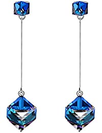 SIVERY 'Infinity Love' Earrings with Swarovski Crystal