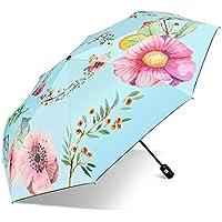 自動傘女性雨と雨三重太陽の傘日焼け止めUV保護ビニールパラソル (色 : A)