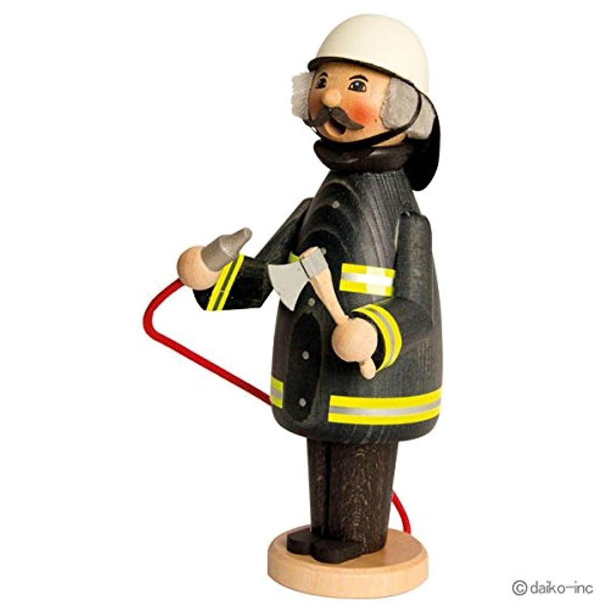 kuhnert ミニパイプ人形香炉 消防士