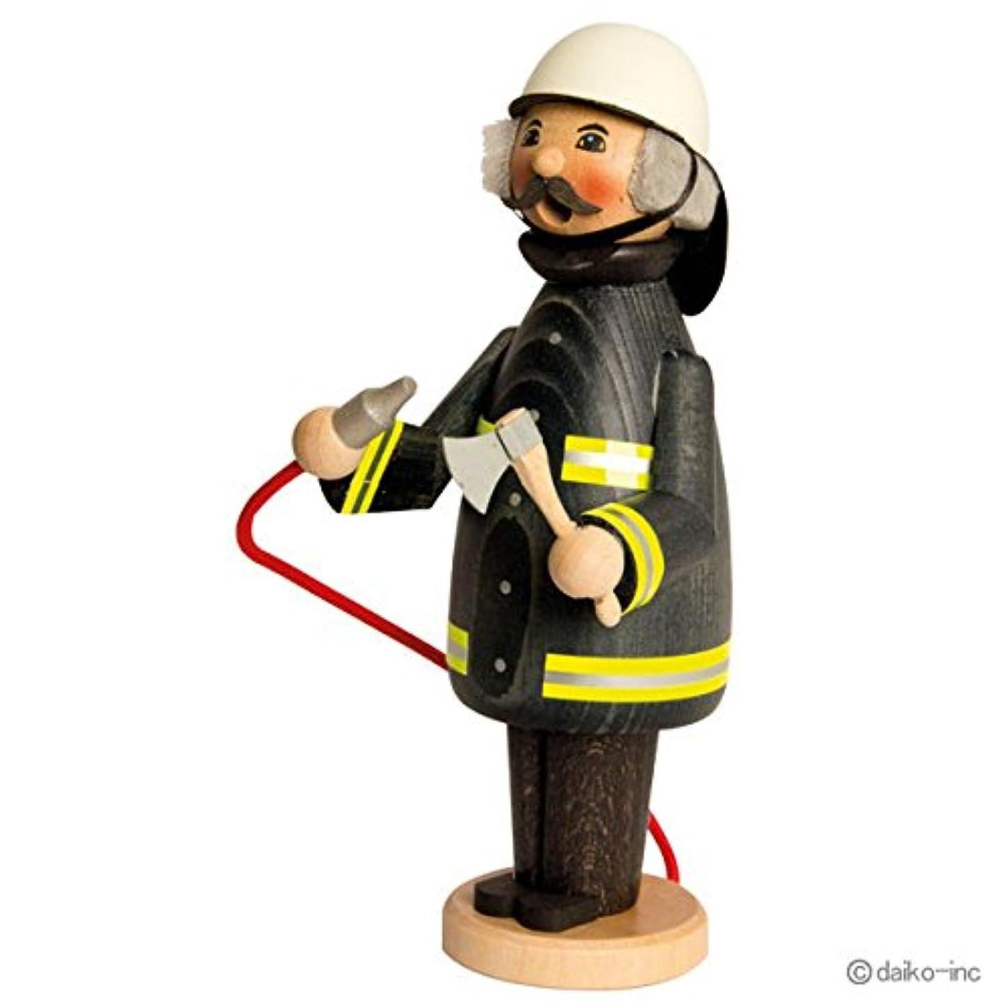 熟す処理顕著kuhnert ミニパイプ人形香炉 消防士