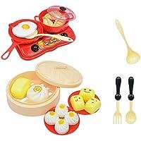 P Prettyia プラスチック製 調理器具 朝食 食べ物 ままごと ごっこ遊びおもちゃ 子どものため 全18個